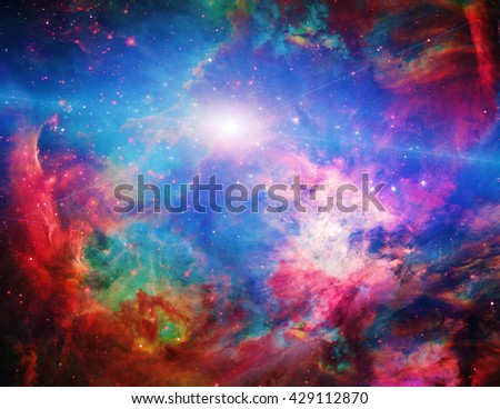Galactic Space Elements of this image furnished by NASA 3D Render - stock photo