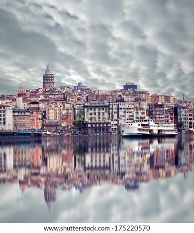 Galat tower, istanbul  - stock photo