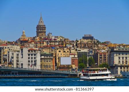 Galata tower(Galata Kulesi), Istanbul,Turkey - stock photo