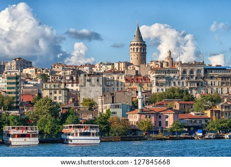 Galata Tower, Istanbul, Turkey - stock photo