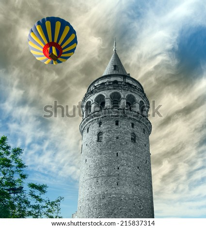Galata tower, istanbul Turkey  - stock photo