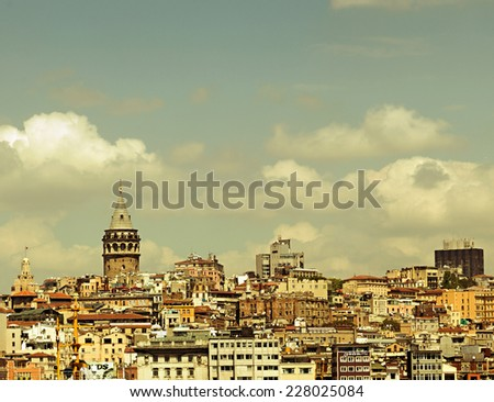 Galata tower, Istanbul Turkey.  - stock photo