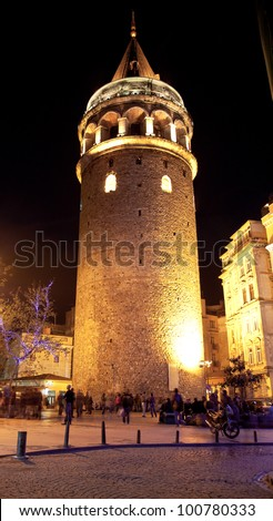Galata Towers at the Istanbul Turkey 1