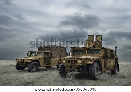 GALATI, ROMANIA - DECEMBER 11:Fighting machine in Romanian military polygon in the exercise PLATINUM LYNX 16 on Galati, Romania, 11 december 2015.