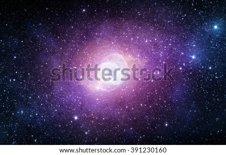 Galaxy - Elements of this Image Furnished by NASA - stock photo