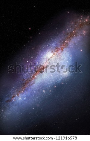Galaxy in deep outer space - stock photo