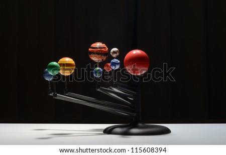 galaxy plastic model - stock photo