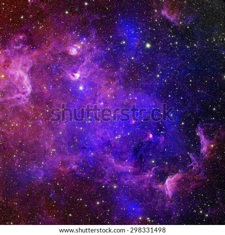 Galaxy stars. Abstract space background. Elements of this image furnished by NASA - stock photo