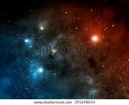 Galaxy with stars and space in the universe - stock photo