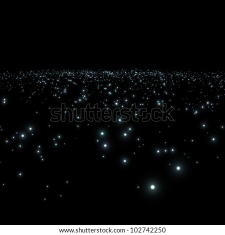 galaxy with stars in a black background / galaxy - stock photo