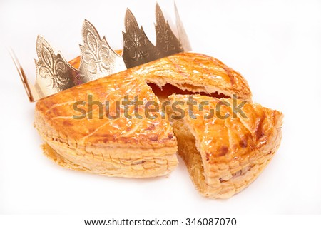 galette des rois or epiphany cake - stock photo