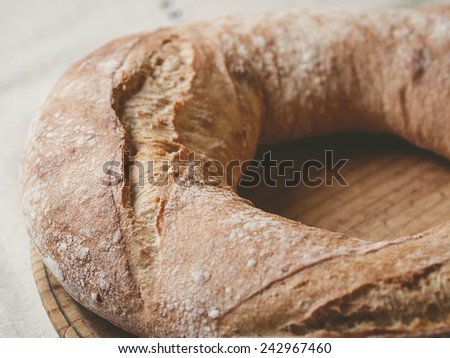 Galician bread. A typical and delicious meal of Galicia, Spain. - stock photo
