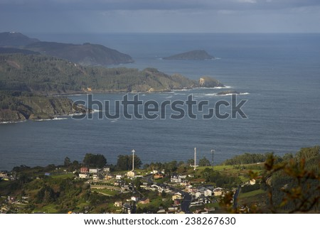 Galician landscape - stock photo