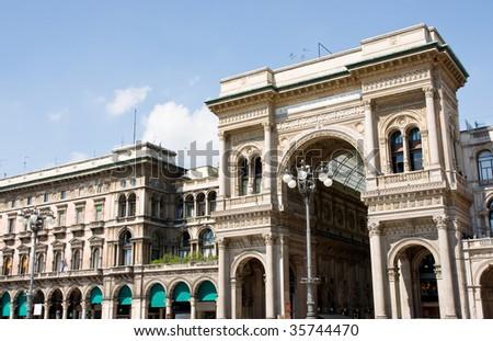 Galleria Vittorio emanuel, Milan - stock photo
