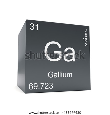 Gallium chemical element symbol periodic table stock illustration gallium chemical element symbol from the periodic table displayed on black cube 3d render urtaz Gallery