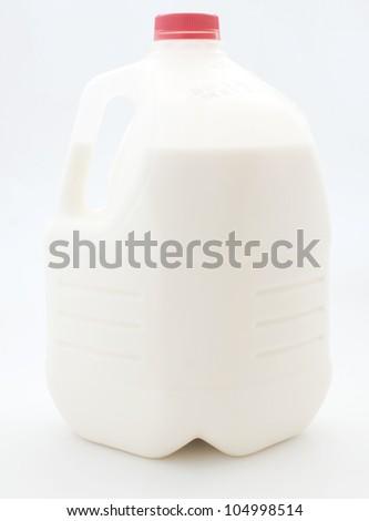 Gallon of milk in plastic bottle - stock photo