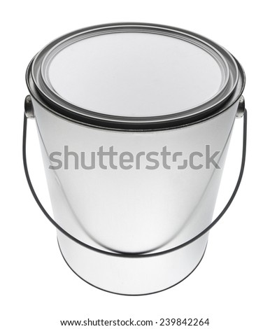 Gallon paint can in perspective, isolated - stock photo