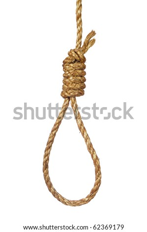 Gallows noose - stock photo