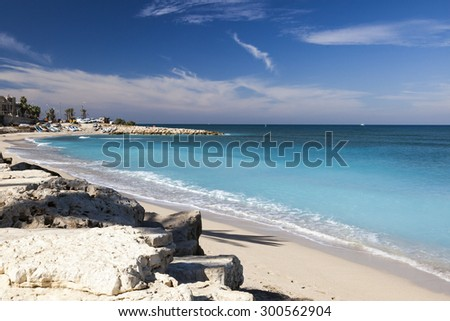 Galshanim beach. Haifa. Israel. - stock photo