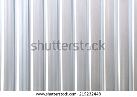 galvanized steel plate background - reflection metallic stainless corrugated chrome texture - stock photo