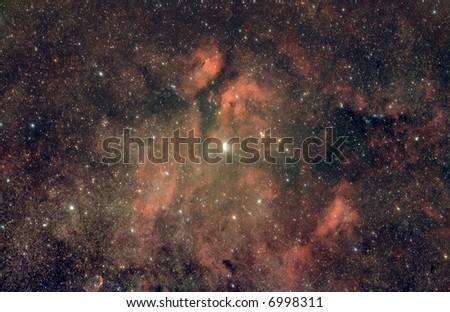 Gama Cygnus Nebula - stock photo