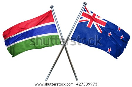Gambia flag  combined with new zealand flag