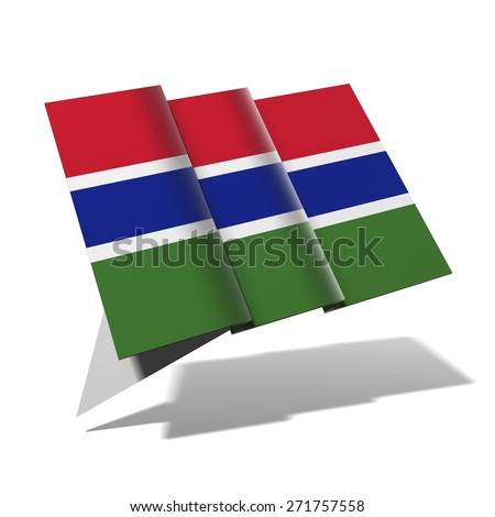 Gambia flag 3D banner - stock photo