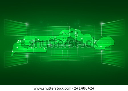 Gambia Map World map News Communication delivery green - stock photo