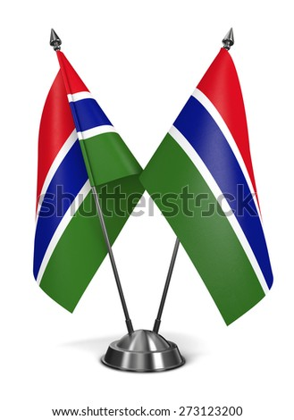 Gambia - Miniature Flags Isolated on White Background. - stock photo