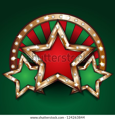 Gambling design template - stock photo