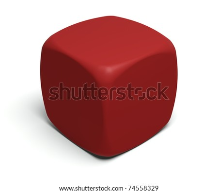 Gambling dice with blank faces to put on any symbol or glyph