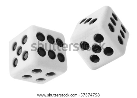 Gambling dices isolated on white background - stock photo
