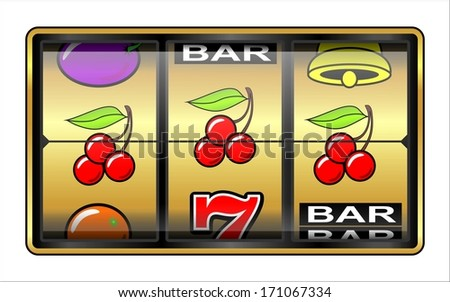 Gambling, slot Machine. Jackpot, casino - stock photo