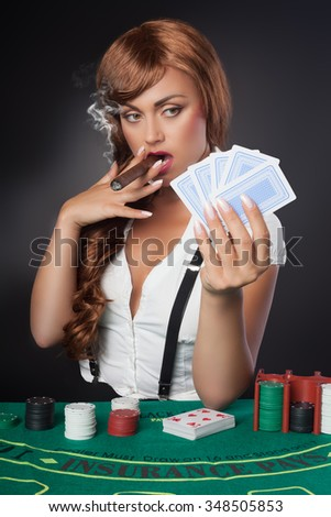 gambling with cigar