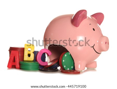 Gambling with our childrens education cutout - stock photo