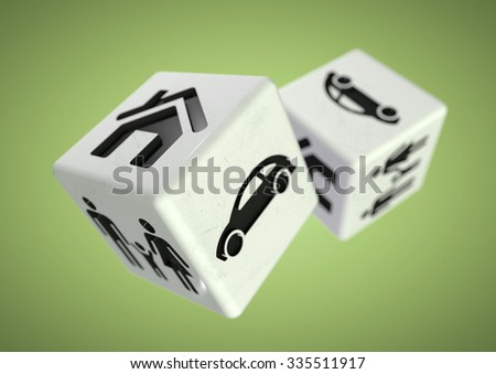 Gambling with your family, car and house. Rolling the dice, taking a chance on loosing everything you own or unsure of the correct financial decisions to make in life - family, car, house