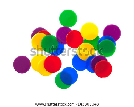 Game chips isolated on a white background - stock photo