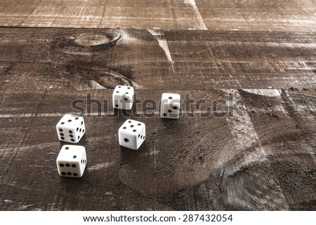 Game components related to letters , poker or craps, also concepts such as luck , success or addiction - stock photo