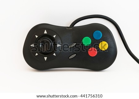 Game controller on white background - stock photo