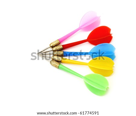 Game darts. It is isolated on a white background. - stock photo