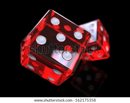 game dice - stock photo