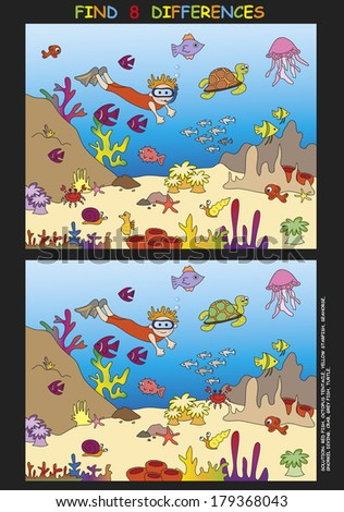 game for children: find the eight differences