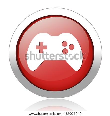 game icon button - stock photo