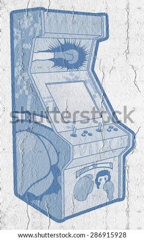 Game machine - stock photo