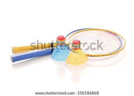 Game of Badminton - stock photo