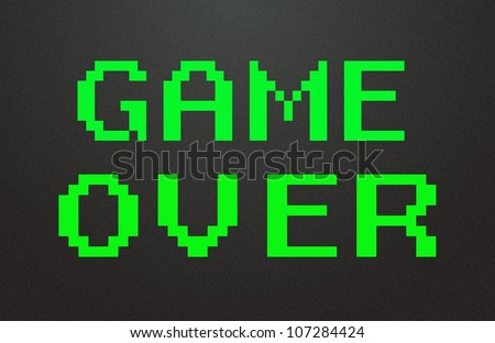 game over symbol - stock photo