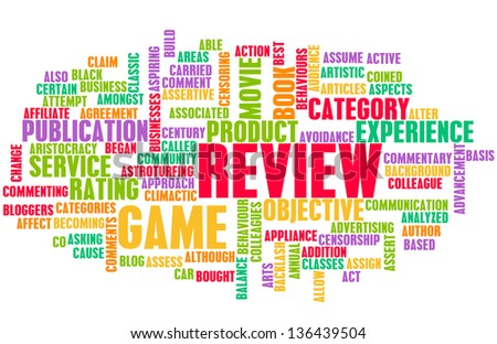 Game Review Word Cloud as a Concept