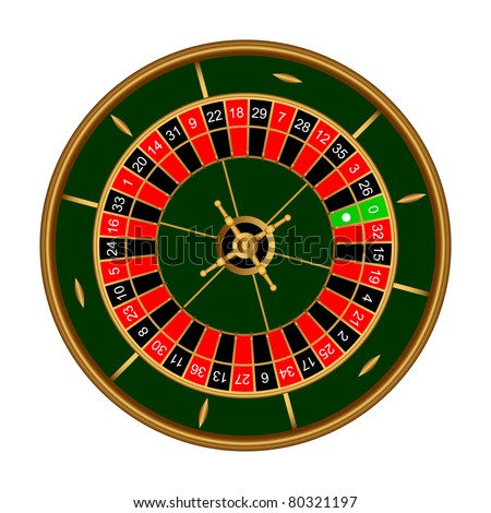 Game roulette on a white background.EPS version is available as ID 74216677.