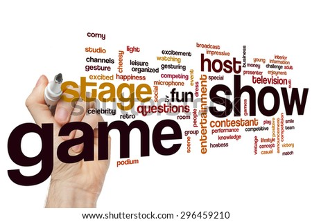 Game show word cloud concept - stock photo