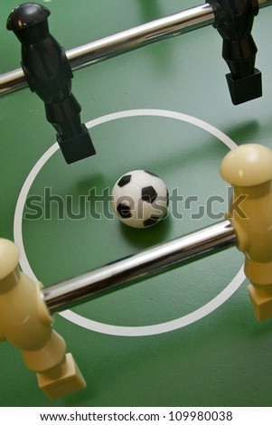 Game table of foosball - stock photo